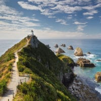 Nugget Point Leuchtturm, Otago, Südinsel, Neuseeland