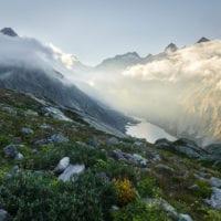 Grimselsee, Schreckhorn, Grimselpass, Berner Oberland, Schweiz