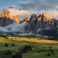 Langkofel und Seiser Alm, Südtirol, Italien