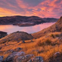 Lyttelton Harbour, Christchurch, Canterbury, Südinsel, Neuseeland