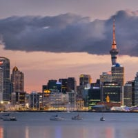 Stanley Bay, Skyline Auckland, Nordinsel, Neuseeland