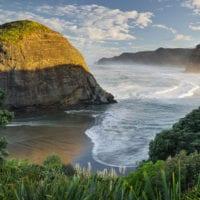 Taitomo Island, Lion Rock, Piha, Auckland, Nordinsel, Neuseeland