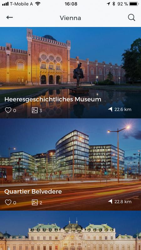 App Wien fotografieren